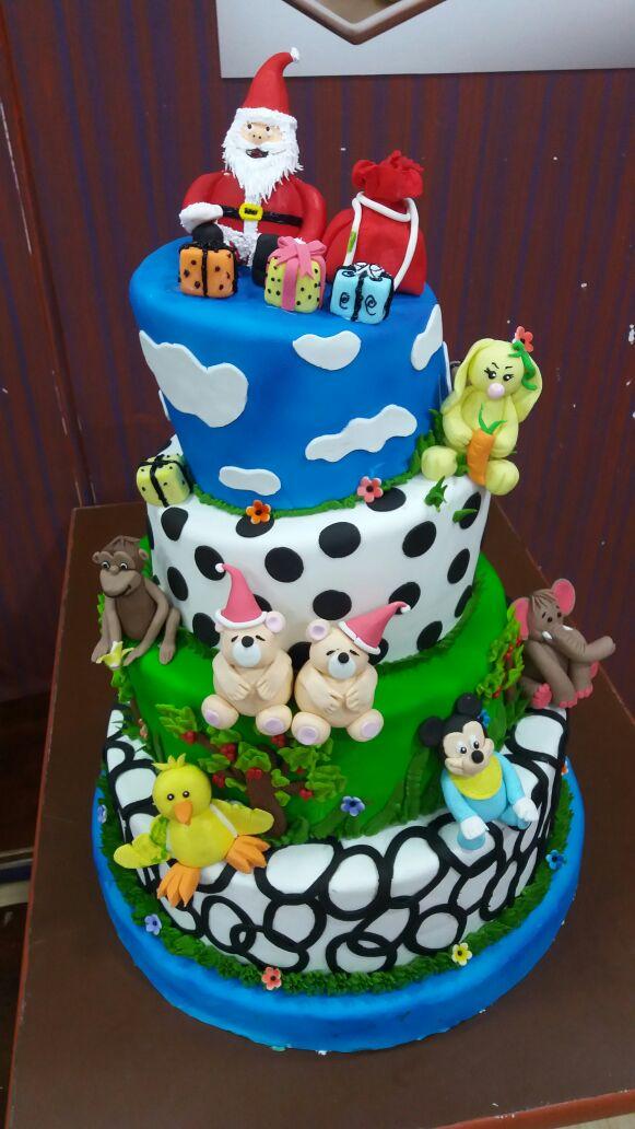 Animals figurines theme cake,Fresh creamz Bakery, send ...
