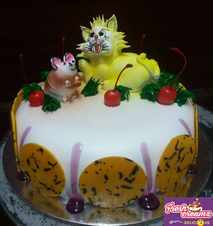 cat n mouse cake