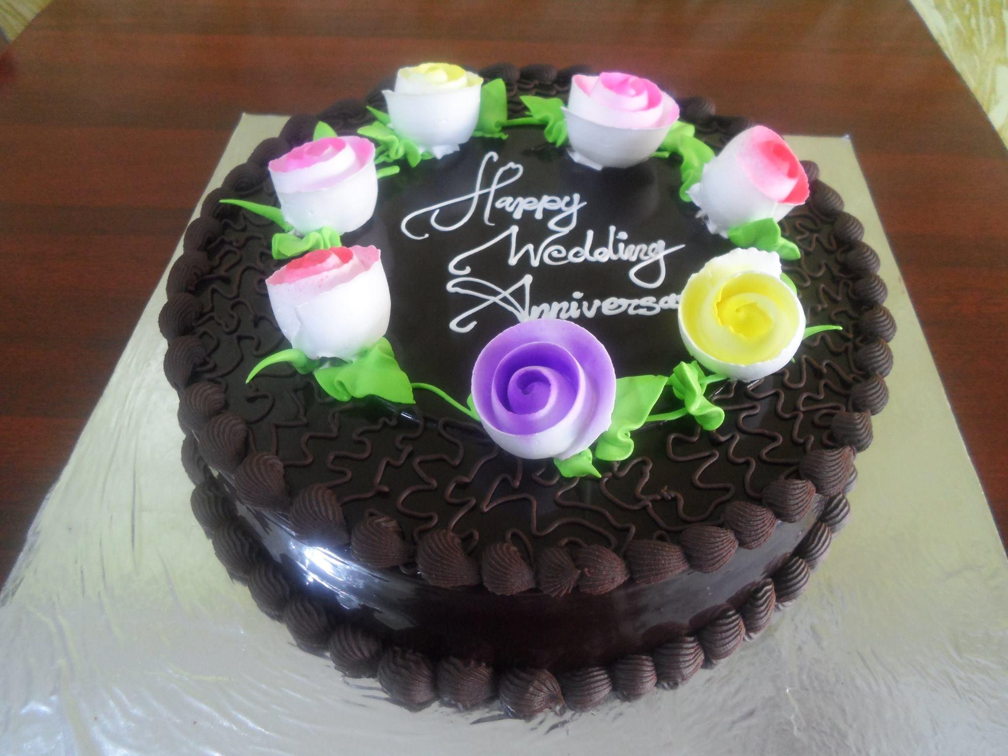 CHOCOLATE FLOWER garden cake