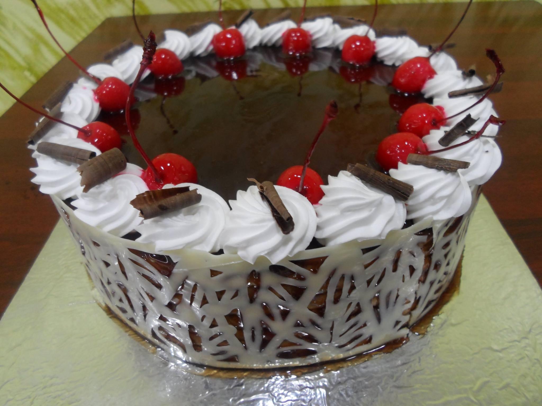 choconet and cherry cake