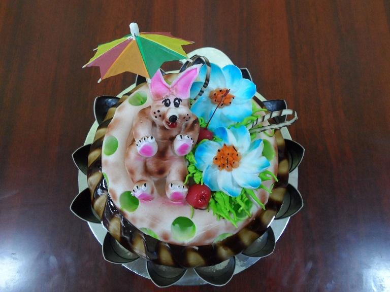 creamy bunny n flowers