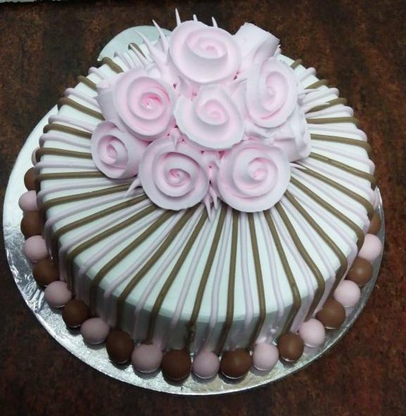 gala flower theme cake freshcreamz