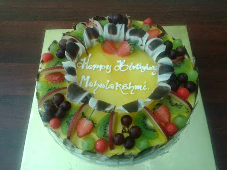 Kiwi fruit cakeFresh creamz Bakery send cake to Madurai delivery