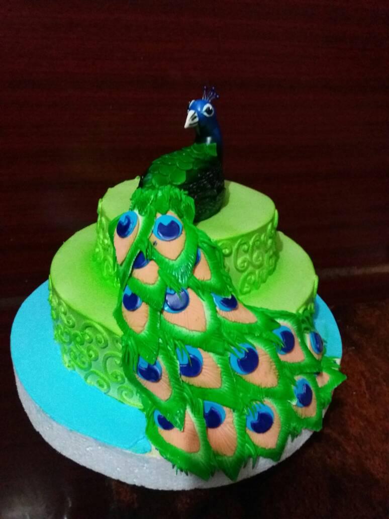peacock theme cake madurai