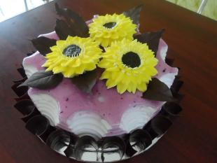 sunflower-with-choco-leaves